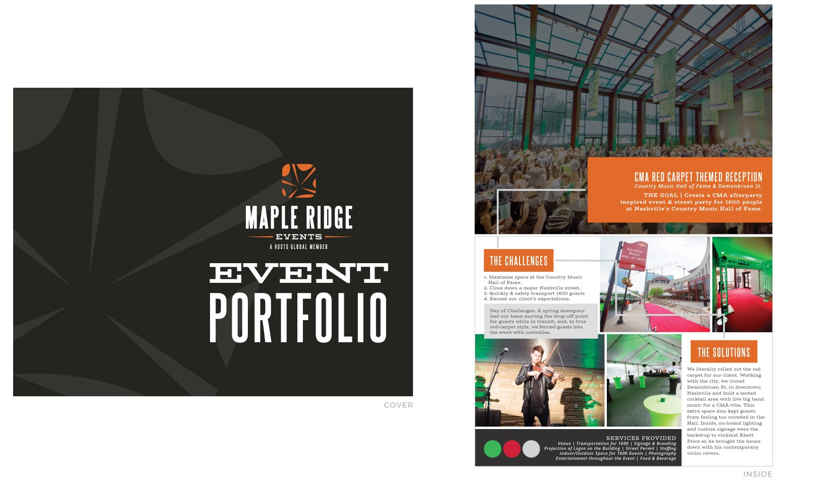 Maple Ridge Events Client Portfolio - Event Portfolio