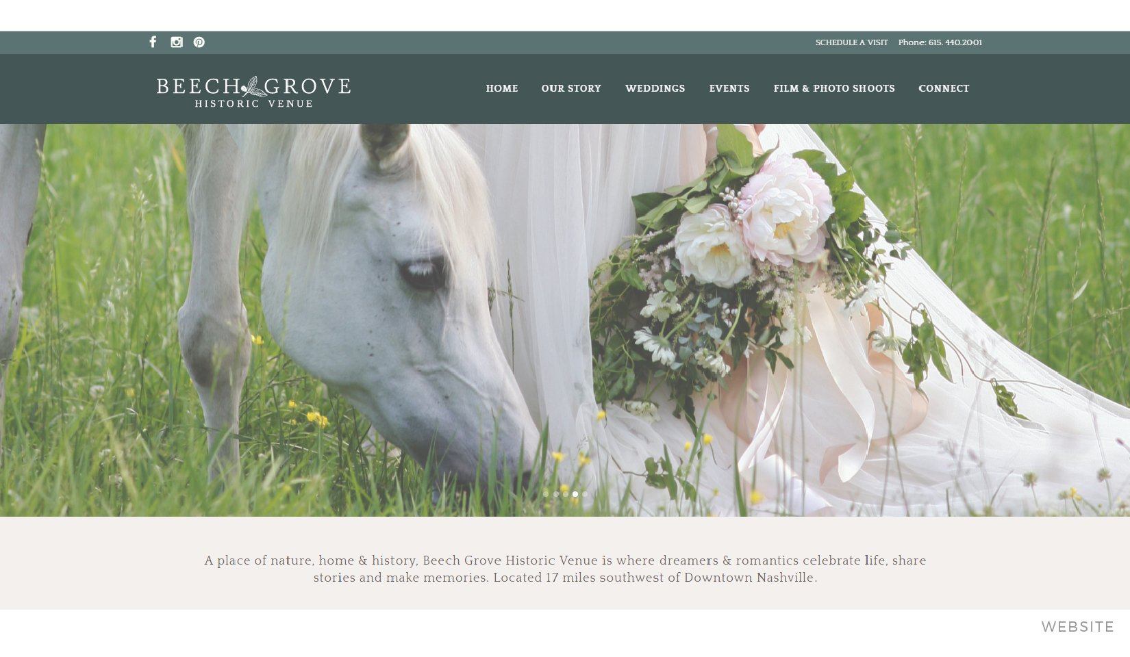 Beech Grove Historic Venue Path and Compass Client Portfolio Website