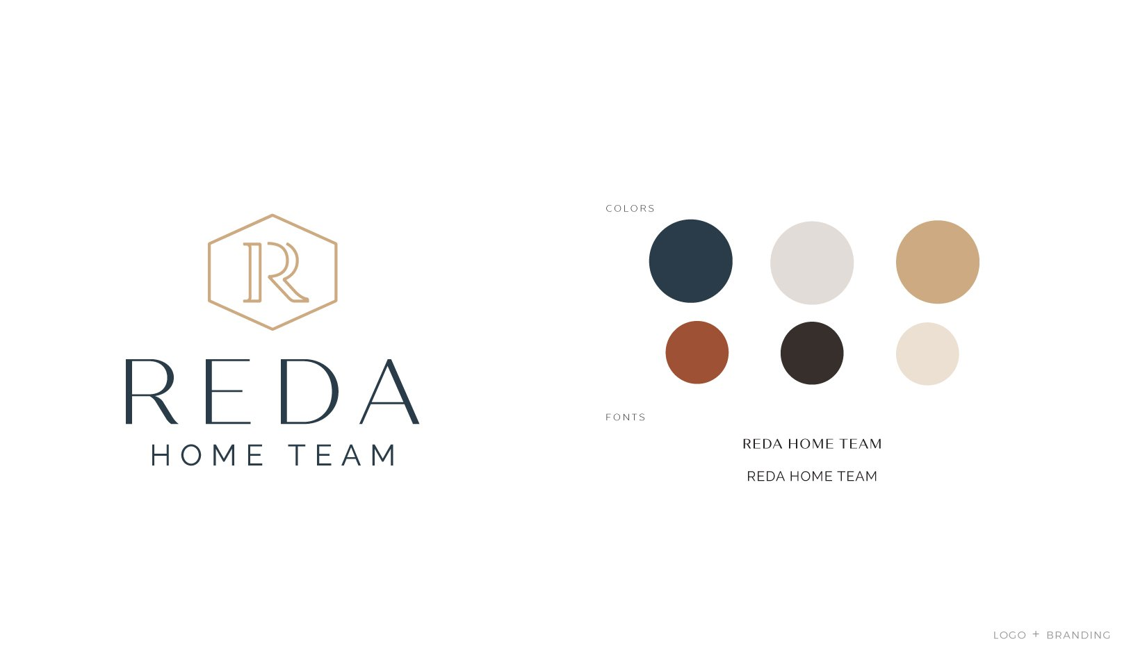 Client Portfolio | Reda Home Team Branding + Logo