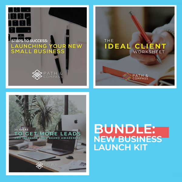 New Business Launch Kit, Path & Compass Digital Products Shop