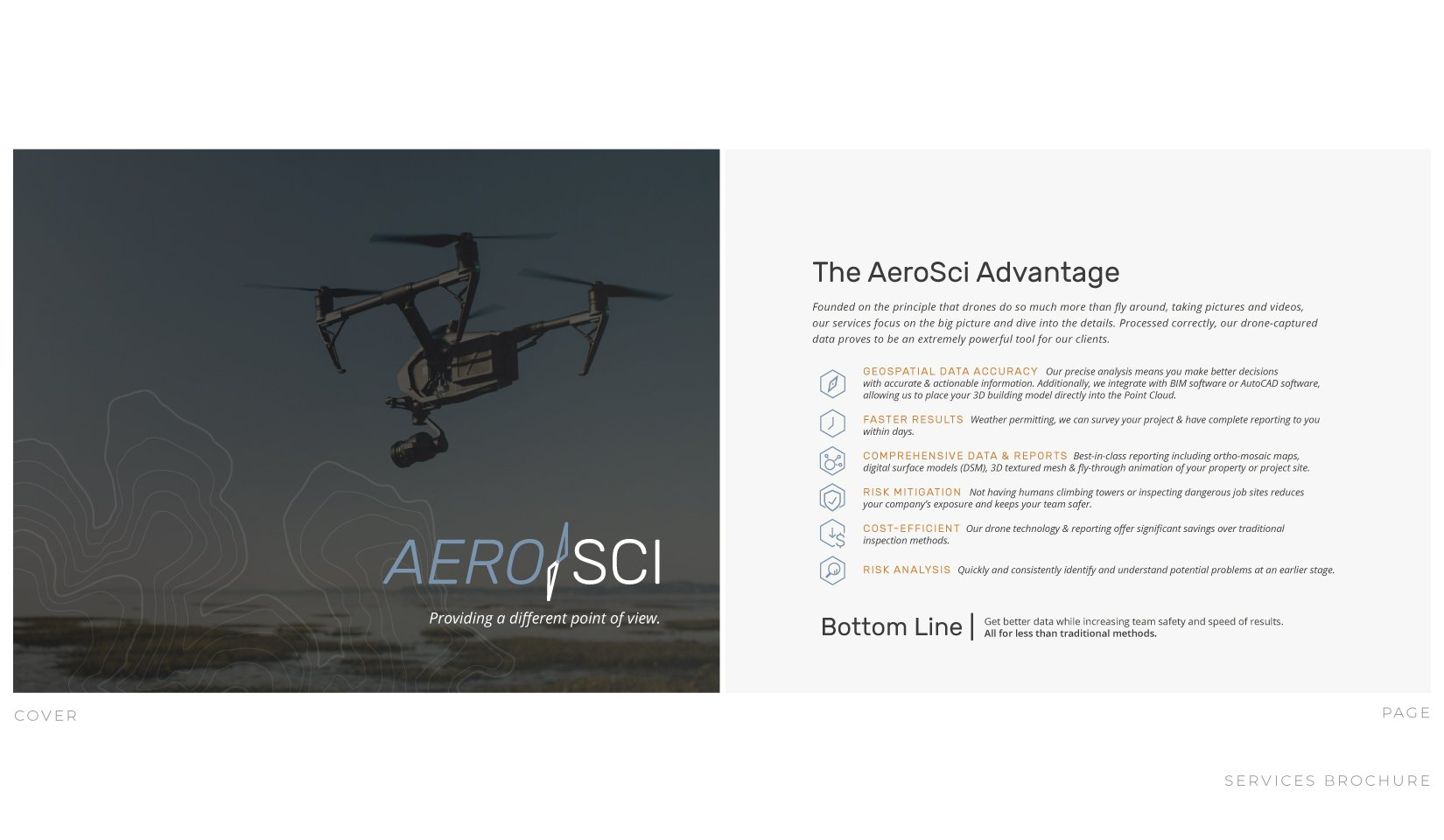Client Portfolio | AeroSci Branding Services Brochure